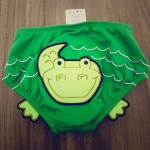 Lands End Alligator  Infant Baby Boy Swim Bottoms